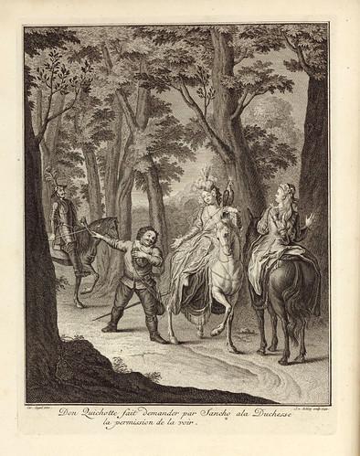 003- Don Quijote a traves de Sancho pide permiso a la duquesa para hablarle-1746