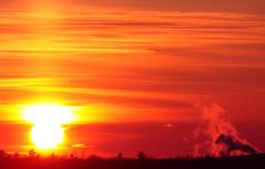 ~ Freezing Sunset ~ (ViaMoi) Tags: sunset orange canada canon photography ottawa horizon steam 300mm supershot balconyshot mywinners platinumphoto anawesomeshot viamoi goldstaraward 100commentgroup