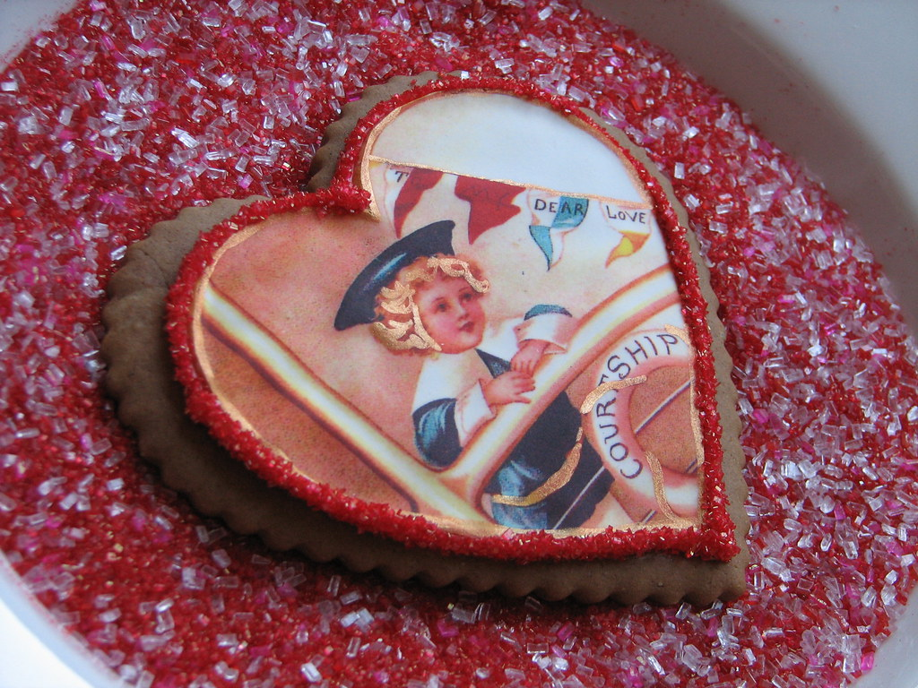 Vintage Valentine Cookie