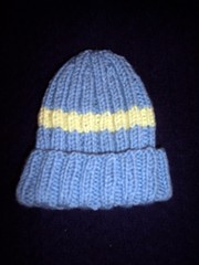 Little Boy Blue Ribbed Baby Hat