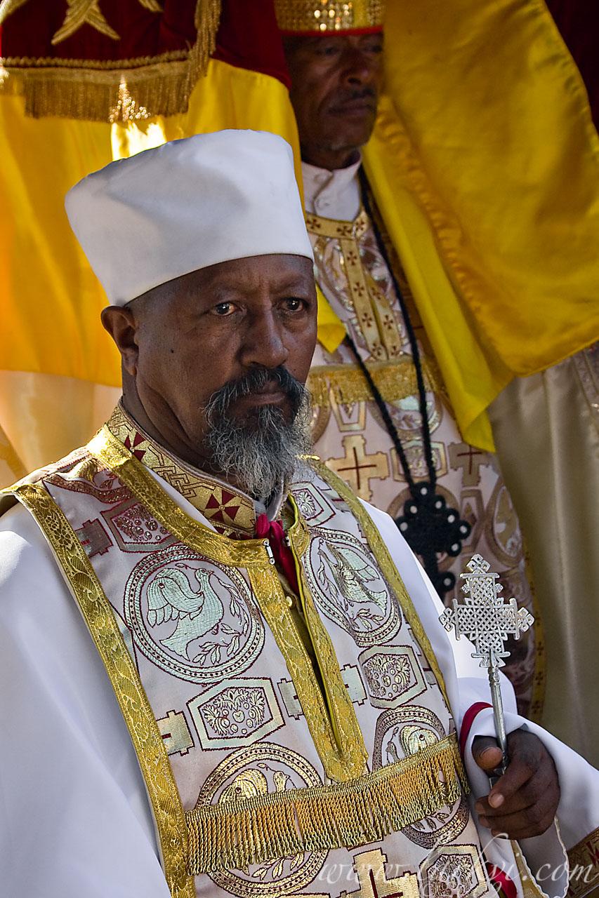 Priest, Timkat (Epiphany), Addis Ababa, Ethiopia, January 2009