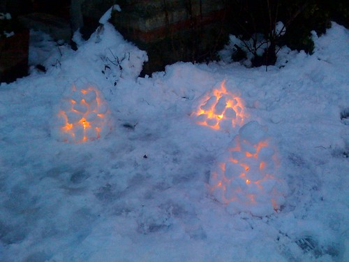 Igloo lamps - Swedish style.