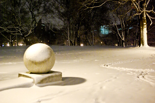 Snowy Sphere - Fort Green Park, Brooklyn
