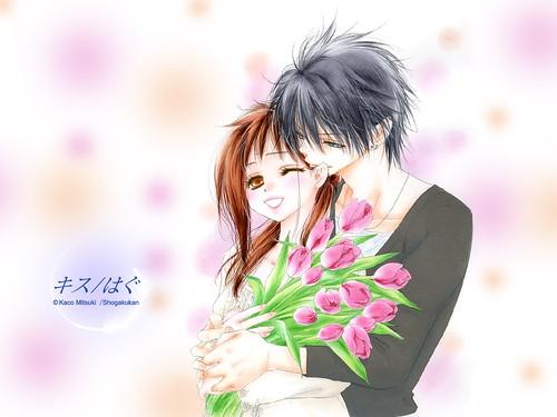 anime couple hugging wallpapers - photo #25