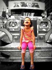 joy ride (life begins with 4t) Tags: travel art girl beauty childhood canon child country philippines jeepney marikina 4t beautysecret mywinners sweetselectivecolor