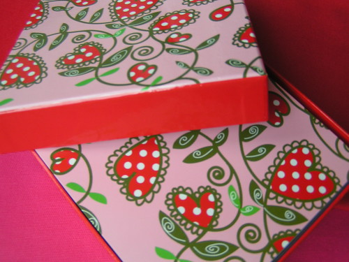 a valentine card box, Hema