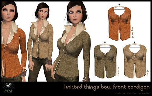 [MG fashion] knitted things collection.bow front cardigan