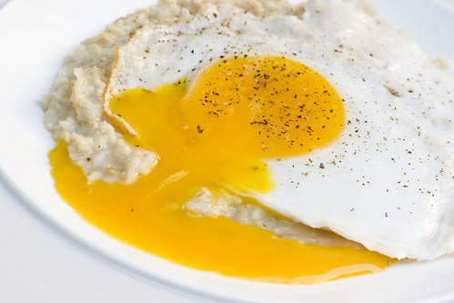 oatmeal with runny duck egg 5