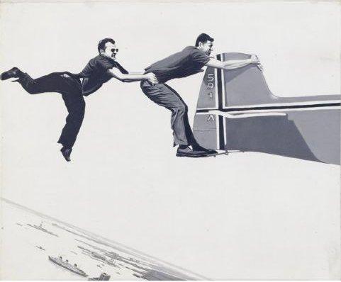 Robert Morris Flying over NY