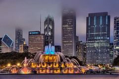 Chicago's Front Doors 1:  Buckingham Fountain at Night Yellow (Mister Joe) Tags: red sculpture lake chicago water night illinois nikon loop michigan joe versailles grantpark glowing buckingham hdr buckinghamfountain latonafountain jacqueslambert marcelloyau chicagosfrontdoors 500scolumbus
