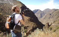 Dan Monceaux shooting video near Real de Catorce, Mexico 2007 (danimations) Tags: mountains beautiful mexico video hiking scenic hills production realdecatorce videoproduction