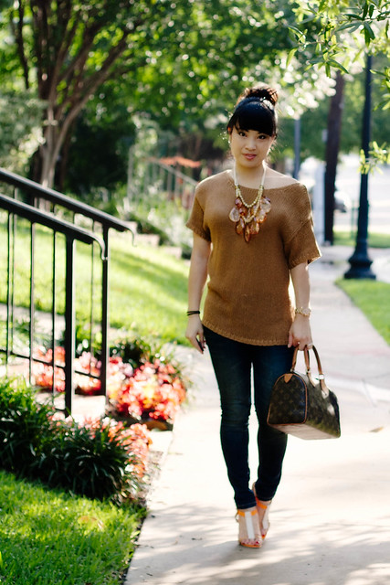 hm camel knit urban outfitters bdg grazer skinny jeans emyloo calista sandals mk5430 louis vuitton speedy 25 amrita singh teteo necklace