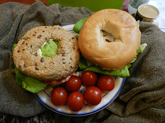 Bagels & cherry tomatoes