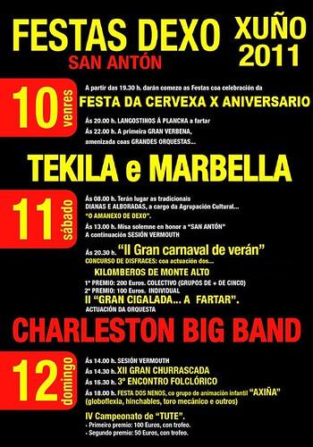 Oleiros 2011 - Festas de San Antón en Dexo - cartel