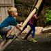 Climbing a Giant Mosquito Leg