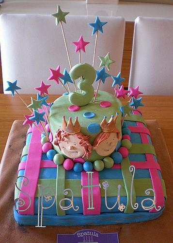 Prens ve Prenses Doğum Günü Pastası - İkiz Çocuk Doğum Günü Pastası by Demetin spatulasi