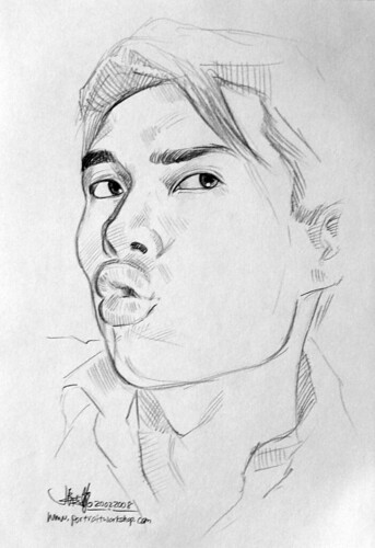 guy portrait pencil sketch 3