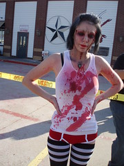 Courtney (Dotted With Heartz) Tags: dayofthedead death blood zombie goth gore horror romero zombies elvira bubs livingdead savini nightofthelivingdead landofthedead dawnofthedead zombiewalk georgearomero malcommcdowell texasfightmare