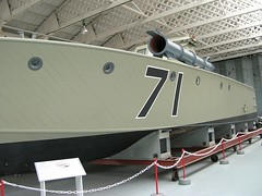 IWM Duxford 0373 - WWII - British - Vosper 60 ft Motor Torpedo Boat MTB-71 - 1940 (gberg2007) Tags: england wwii mtb duxford naval imperialwarmuseum iwm vosper motortorpedoboat hanger3