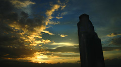 Sunrise in the City (Vic de Vera) Tags: city morning sky sun mountains building tower nature beautiful clouds sunrise amazing view horizon philippines bluesky scene magnificent pasigcity supershot digitalshot anawesomeshot ourplanet ysplix flickrlovers magnificentsunrise
