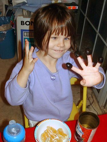 Fingertip olives
