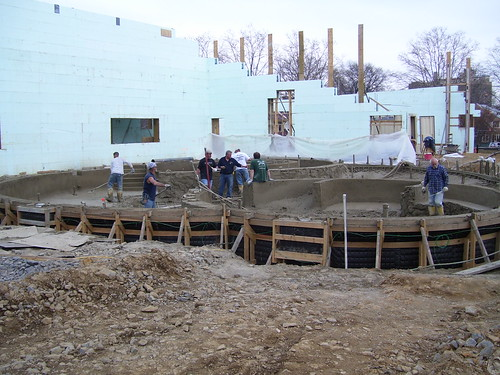 A veiw of the future recreation pool taking shape