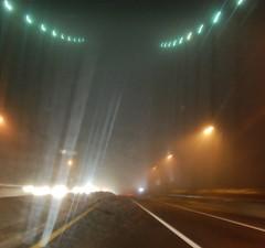 Fog & the Whitestone Bridge (Nino.Modugno) Tags: road new york city nyc bridge light cars car fog lights driving glow bronx hometown foggy bridges going glowing commuting lamps tunnels whitestone towards nightonearth nikond40 ninomodugno popularimages phototakenbyeugenelapia