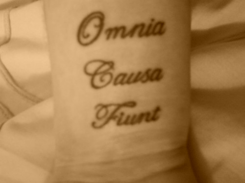 amor vincit omnia tattoo. New Wrist Tattoo