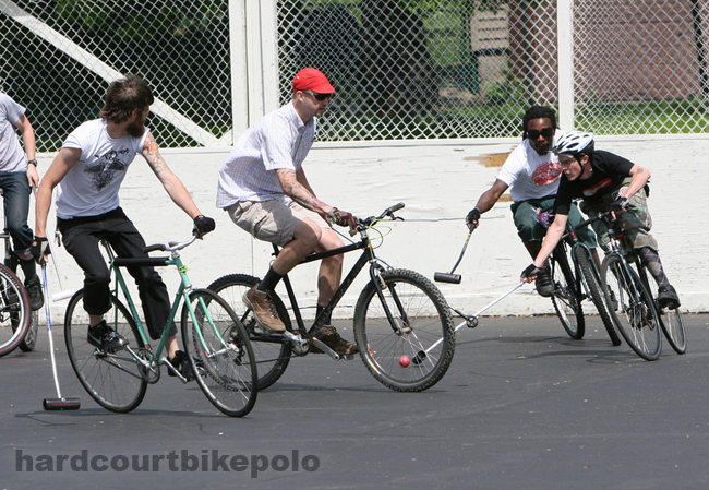 bike polo nick busting thru