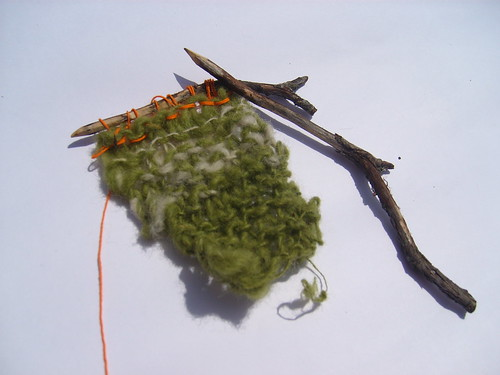 Nature knitting