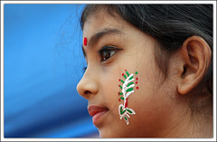 From Heaven to Earth [..Dhaka, Bangladesh..] (Catch the dream) Tags: blue red green colors girl face look painting festive children facepainting design expression bongo ornament dhaka bengal bangladesh bangla bengali bangladeshi bangali noboborsho banglanewyear bengalinewyear catchthedream gettyimagesbangladeshq2