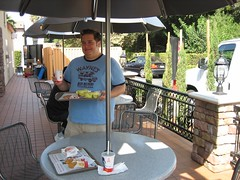 I bought Tom breakfast at his newly remodeled McDonald's. (09/15/2005)