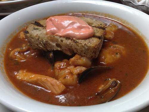 The Cow Fish Stew with Rouille and Croutons