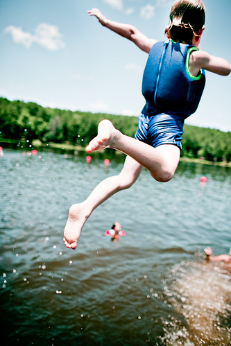 Brian soaring through the air
