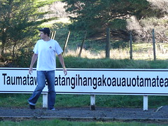 Longest Place name in the World 007 (Just Rye Oh) Tags: newzealand hawkesbay taumatawhakatangihangakoauauotamateaturipukakapikimaungahoronukupokaiwhenuakitanatahu longestplacenameintheworld