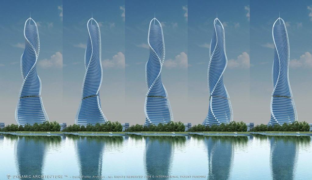 вращающееся здание в дубаи: