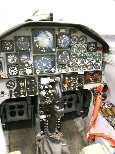 Airplane picture - Inside the T-38 simulator cockpit