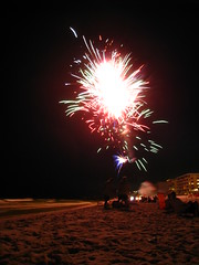 Fire in the Sky (B.Bo) Tags: ocean vacation beach water night fire waves gulf florida fireworks explosion fourthofjuly condos 4thofjuly ftwalton