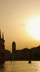 Glowing venetian sun