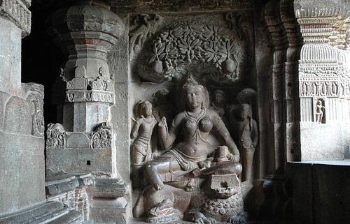 Ellora Cave Sculpture, Maharashtra, India