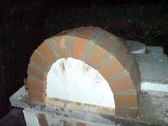 Pizzaofen round arch