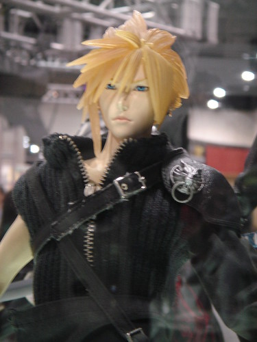 Cloud at the Squeenix booth
