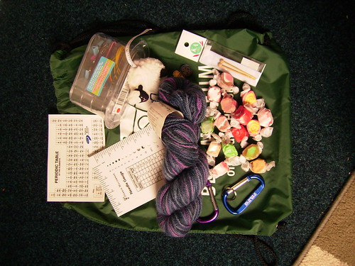 Contents of teacher who knit swap package
