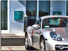 the hotel and the car (paolo brunetti) Tags: reflection car hotel porsche hotels ac riflessi livorno soe digest