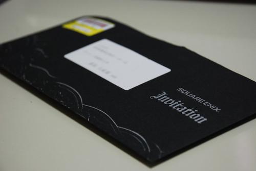 DKS3713 SQUARE ENIX Private Party 2008 Invitation Card 1