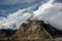 The Trango Towers (sylweczka) Tags: trip pakistan sky mountains clouds holidays glacier karakoram trango baltoro trangotowers baltoroglacier sylweczka