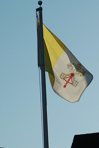 Unofficial Roman Catholic Flag with Papal Regalia and Insignia ...