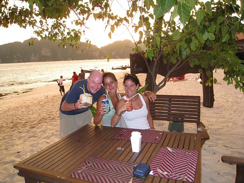 Josi, Catharine, and me on Koh Phi Phi, Thailand