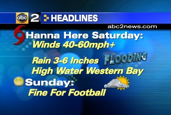 ABC2 News Hanna Headline 9-5-08