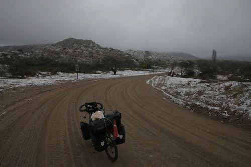 Winter cycling in Argentina. N of Hualfín.